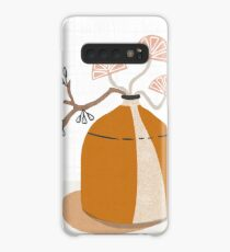 Orange pottery with plants Case/Skin for Samsung Galaxy