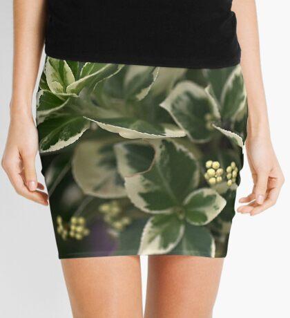 Variegated leaves Mini Skirt