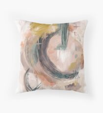 Abstract Nature Palette Throw Pillow