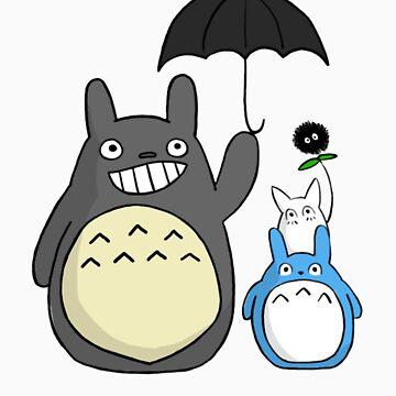 Totoro family by tjldv