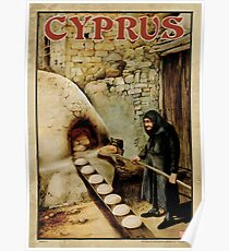 Travel Poster 11 - Baking Bread, Cyprus Poster