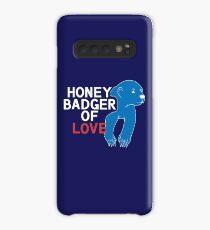 Honey Badger of LOVE (White Print) Case/Skin for Samsung Galaxy