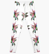 hummingbird,flowers,plant,digtalartpaint,nature,color,bird,Herbs,garden,petunias.tiniest,iridescent,jewels,wings,nectar,colored,sunset,abstract, Leggings