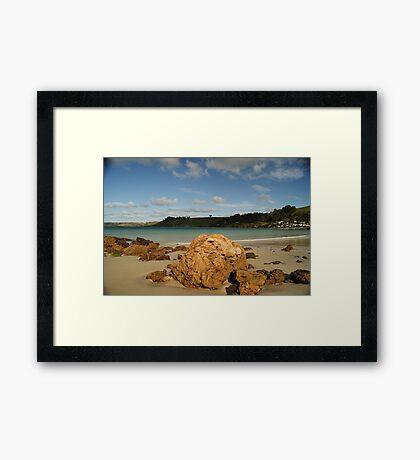 Boat Harbour Boulders Framed Print