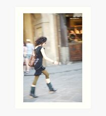 peoplescapes #218, on the move  Art Print