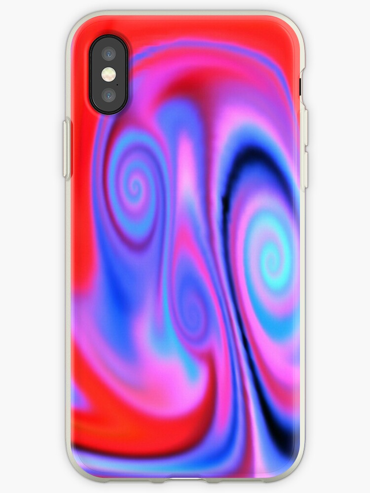 Abstract Psychedelic Colouful Neon Smoke Iphone Case By Tj Allen