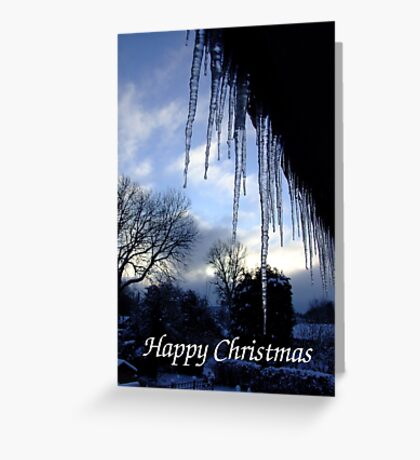 Ice View - Christmas Card Greeting Card