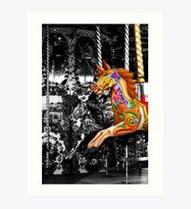 Carousel in isolation Art Print