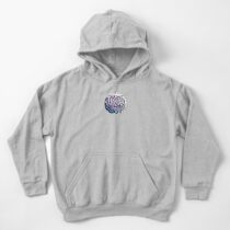 pine cone in aqua, purple and indigo Kids Pullover Hoodie