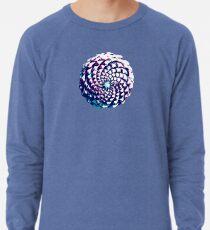 pine cone in aqua, purple and indigo Lightweight Sweatshirt