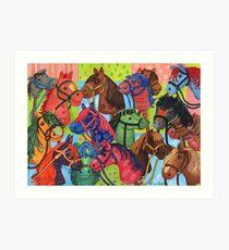Happy Hobby-Horses Art Print