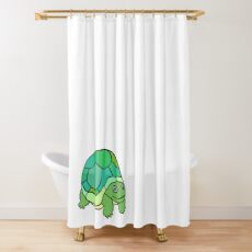 The Staring Turtle Shower Curtain