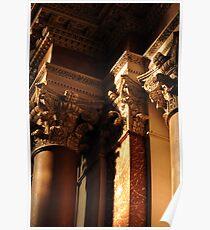 Capitals in S.M degli Angeli, Rome Poster