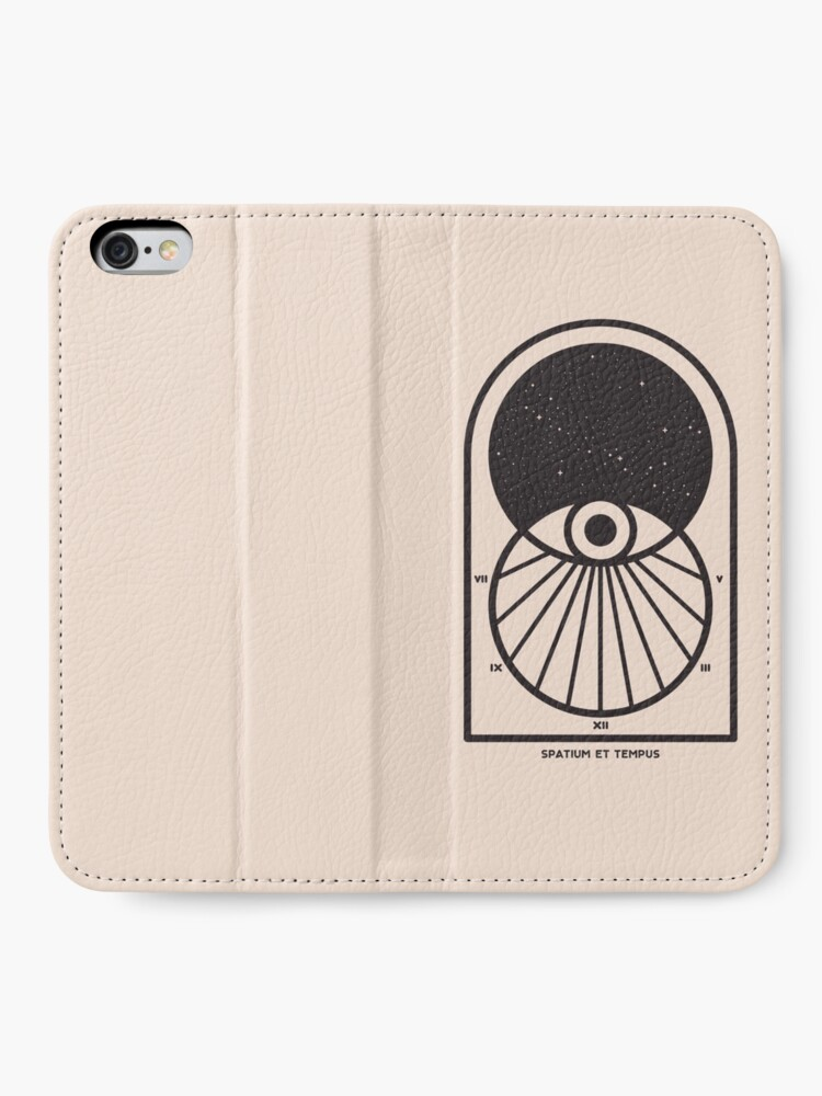 Alternate view of Space and Time iPhone Wallet