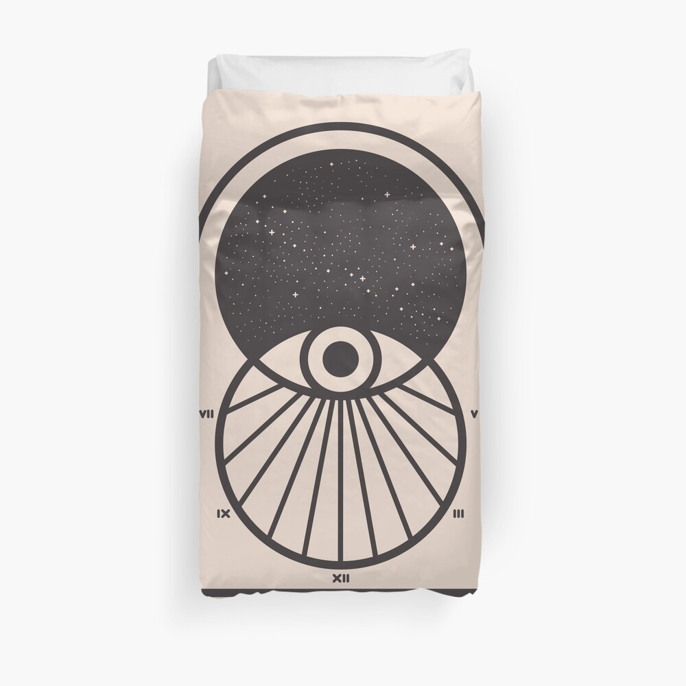 Space and Time Duvet Cover