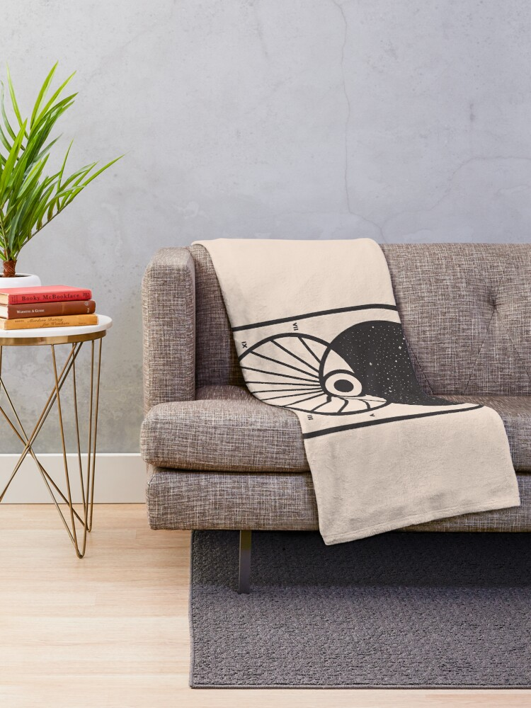 Alternate view of Space and Time Throw Blanket