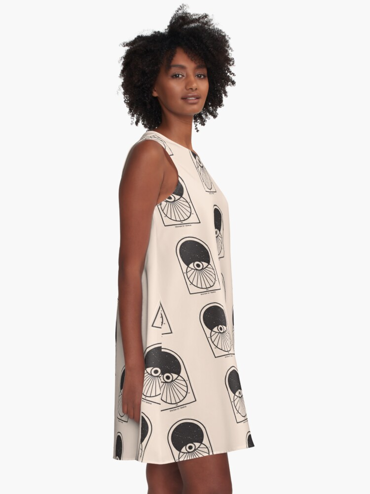 Alternate view of Space and Time A-Line Dress