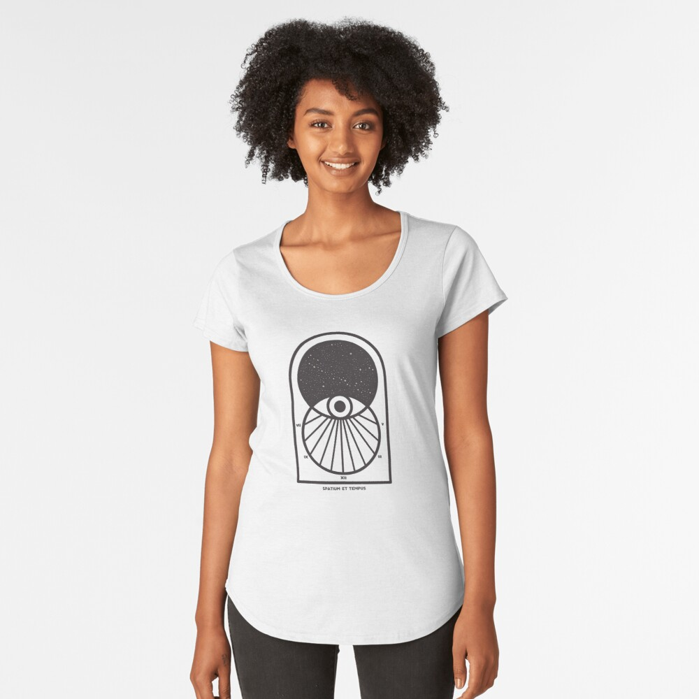 Space and Time Premium Scoop T-Shirt