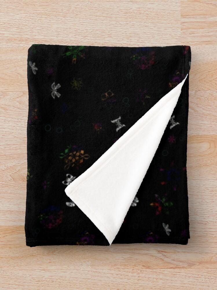 Alternate view of Butterflies and SnowFlowers Throw Blanket