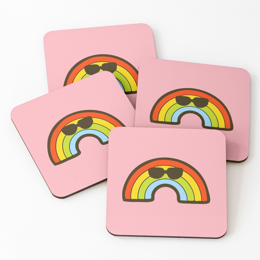 Rainbow Pride Pattern Coasters (Set of 4)