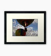 Evening Hot Air Balloon Flight  Framed Print