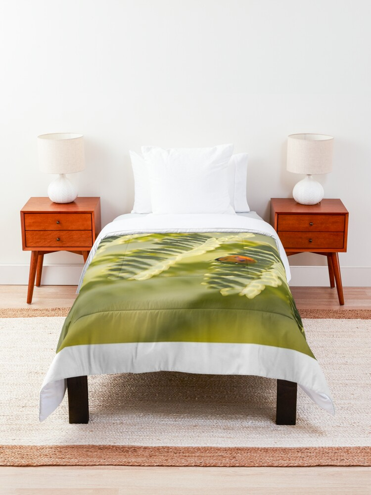 Alternate view of A very long way to the top Comforter