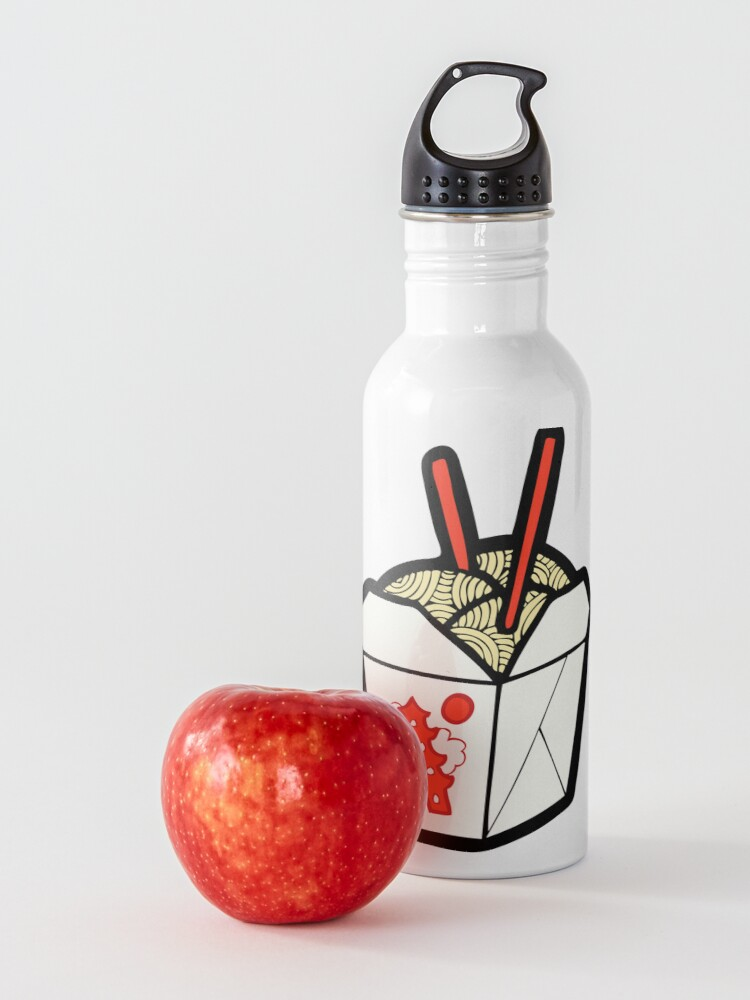Alternate view of Take-Out Noodles Box Pattern Water Bottle