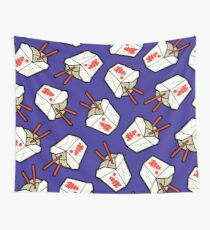 Take-Out Noodles Box Pattern Wall Tapestry