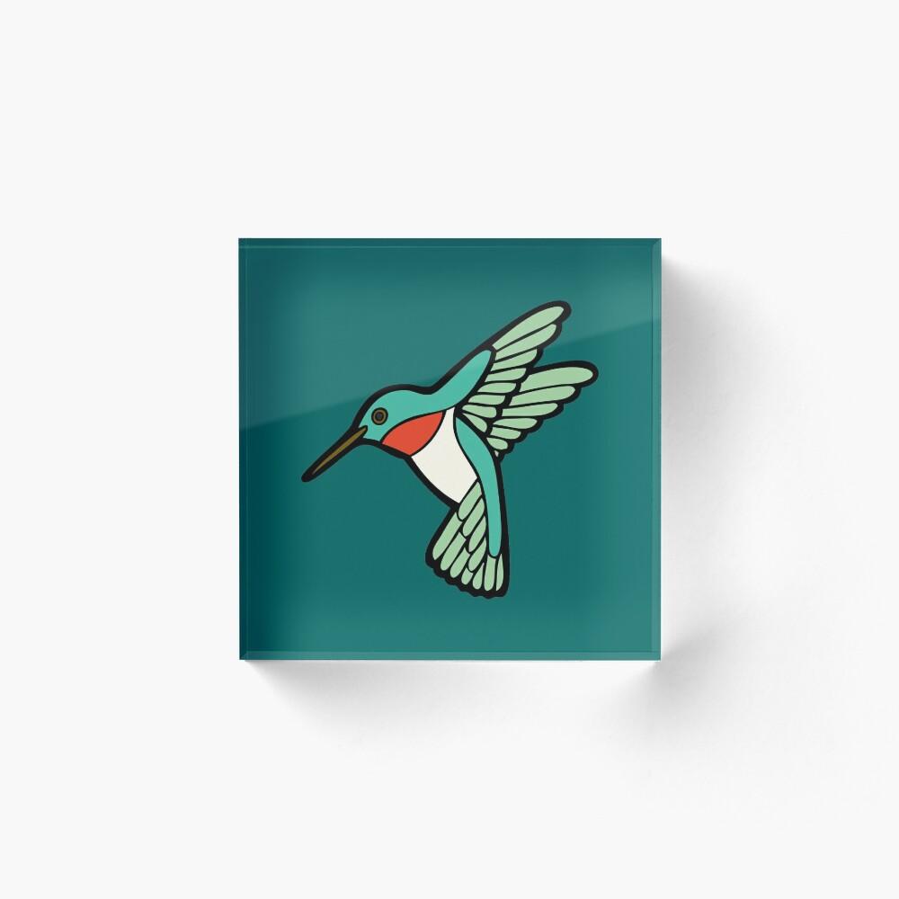 Hummingbird Pattern  Acrylic Block
