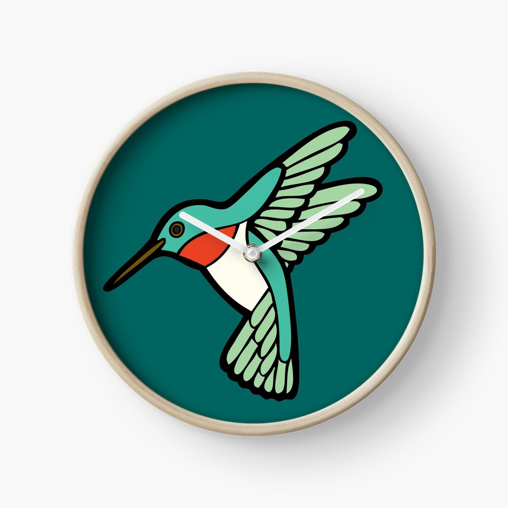 Hummingbird Pattern  Clock