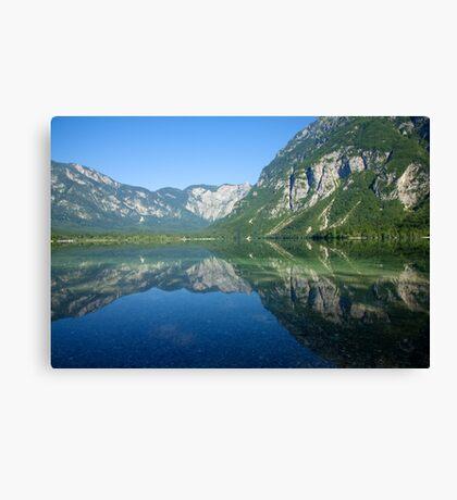 Summer alpine reflections Canvas Print