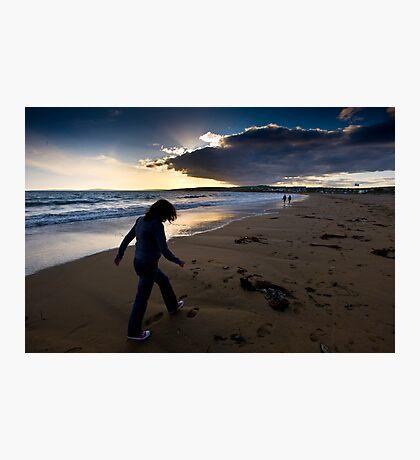 Sunset Walk On Garretstown Beach  Photographic Print