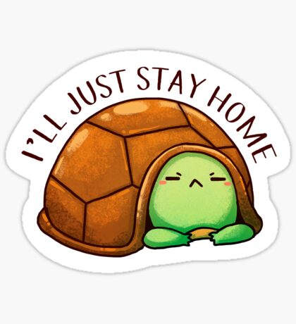 Negative Turtle: I'll just stay home  Sticker