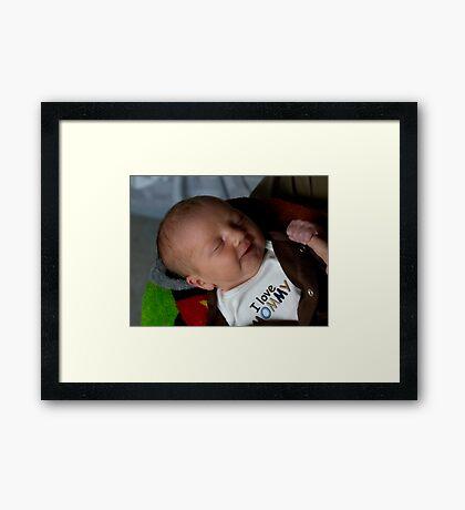I Love Mommy Framed Print