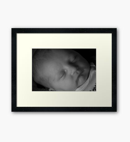 Dylan at One Day Old in B&W Framed Print