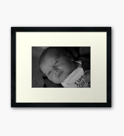 First Glance in B&W Framed Print
