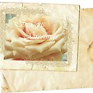 Vintage Rose.Card. by Vitta