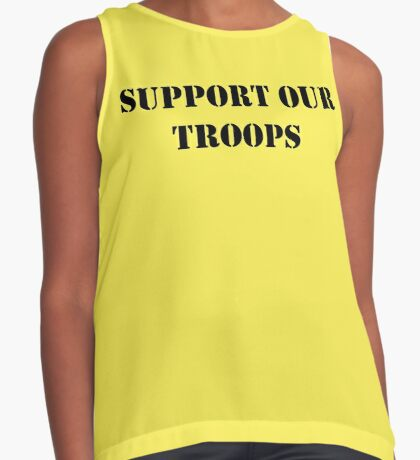 Support Our Troops - July 4th - U.S. Military Sleeveless Top