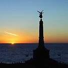 Cenotaph in Aberystwyth - Wales by Bev Pascoe