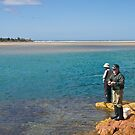 Fishing at Mallacoota Inlet, Victoria. by johnrf