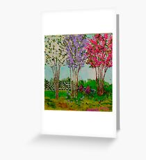 Crepe Myrtles in the front yard Greeting Card