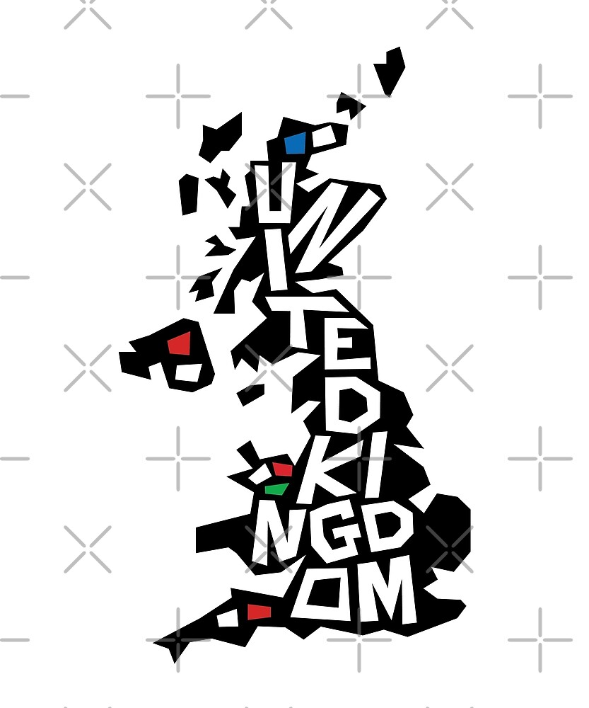 United Kingdom Map by designkitsch