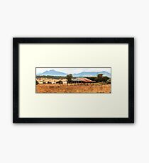 Abandoned building in the outback. Framed Print