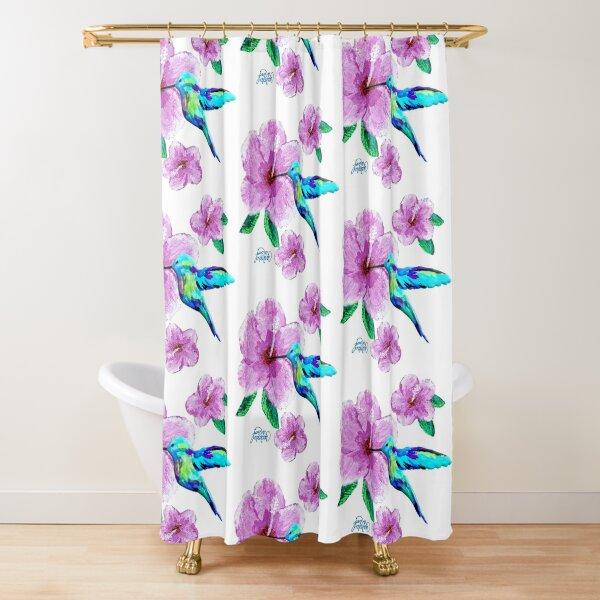 Hummingbird & Flowers Shower Curtain