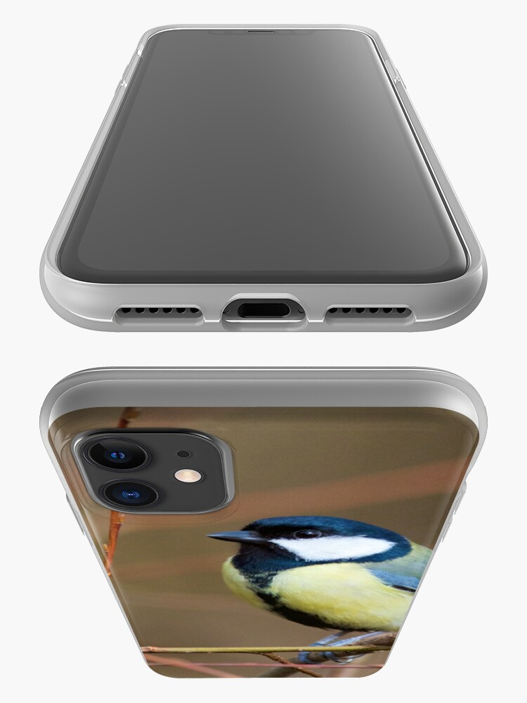 Alternate view of Great Tit (Parus Major) Perched in Woodland iPhone Case & Cover