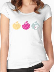 APPLE TRIO 1 Women's Fitted Scoop T-Shirt