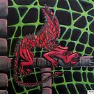 445 - RED DRAGON - DAVE EDWARDS - COLOURED PENCILS - 2019 by BLYTHART