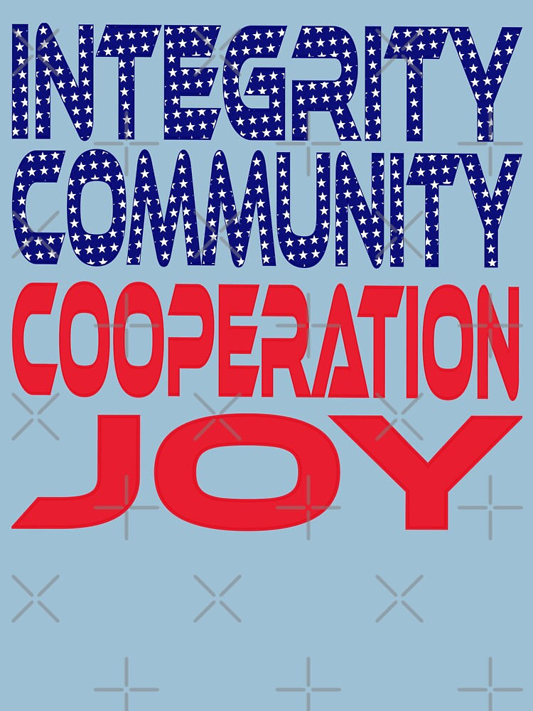 #OurPatriotism: Integrity, Community, Cooperation, Joy by André Robinson by carbonfibreme