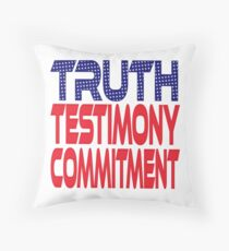 #OurPatriotism: Truth, Testimony, Commitment by André Robinson Throw Pillow