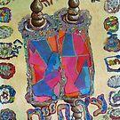 BEHOLD, ETZ CHAIM,  IN BLUE AND ORANGE by hdettman